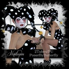 Poser by Butterfly: Harlequin