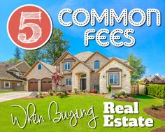 5 Common Home Buying Fees