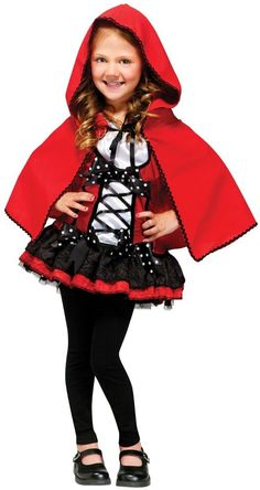 Girls DELUXE Little Red Riding Hood Costume Cape Red Fancy Dress Kids Childs NEW #Dress