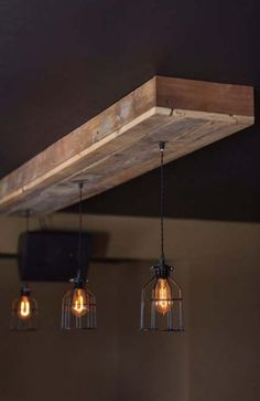 Choose Size Made to Order Reclaimed Barn Wood Siding Fixture with Caged Edison Bulbs for //Bar//Restaurant //Home – Rustic Lighting* – Fixtures 2020 Rustic Light Fixtures, Kitchen Lighting Fixtures, Rustic Lighting, Lighting Ideas, Bathroom Lighting, Rustic Kitchen Design, Rustic Bathroom Decor, Kitchen Wood, Kitchen Paint