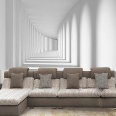 Encargo 3D abstracto moderno Photo wallpaper murales sala de estar, espacio tridimensional mural de la pared papel