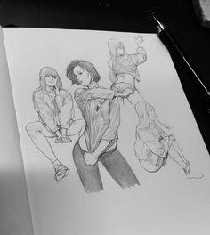 Cool Art Drawings, Art Drawings Sketches, Sketchbook Inspiration, Art Sketchbook, Fantasy Art Women, Figure Sketching, Epic Art, Drawing Skills, Poses