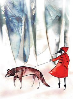 Little red riding hood and the wolf. I love this!