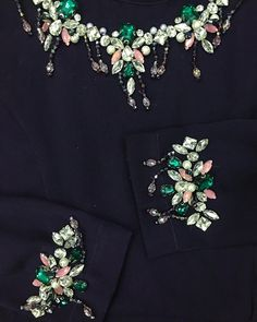 No automatic alt text available. Embroidery Suits Design, Bead Embroidery Patterns, Couture Embroidery, Embroidery Fashion, Embroidery Jewelry, Embroidery Dress, Beaded Embroidery, Desi Wedding Dresses, Pakistani Formal Dresses