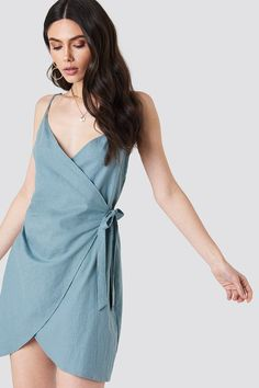 Side Knot Slip Dress NA-KD.COM