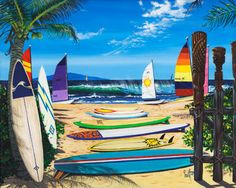 Painted by Scott Westmoreland, the Surf N Sail wall mural from Murals Your Way will add a distinctive touch to any room. Choose a pre-set size, or customize to your wall. Dog Beach, Beach Art, Beach Wall Murals, Wall Art, Murals Your Way, Beach Boardwalk, Summer Surf, Surfs Up, Surfboard