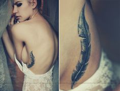 wonderful feather tattoo