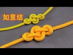 分享很漂亮的如意结编法,看似简单的绳结但很多人做不出来这形状 - YouTube Macrame Wall Hanging Patterns, Macrame Patterns, Bracelet Crafts, Macrame Bracelets, Ring Bracelet, Macrame Tutorial, Bracelet Tutorial, Cool Tie Knots, Rakhi Making