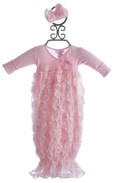 Bebemonde Pink Rose Garden Newborn Take Home Gown Going Home Outfit, Take Home Outfit, Newborn Girl Outfits, Baby Outfits, Baby Gown, Baby Girl Fashion, Baby Sewing, My Baby Girl, Gowns