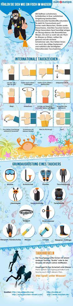 Infografik: Tauchen im Urlaub - Hier geht's zu unseren Infografiken: http://www.autoeurope.de/go/infografiken/