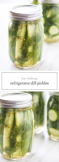 Low Fodmap Refrigerator Dill Pickles are deliciously crunchy and flavorful, no fodmap-containing garlic or onion needed. Low fodmap recipe!