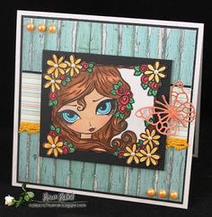 The Corrosive Challenge - I've Been Framed (create a project that features a Frame); Dilly Beans, Daisy Girl, Craft Corner, Memorial Day, Making Ideas, Card Ideas, Stamps, Card Making, Give It To Me