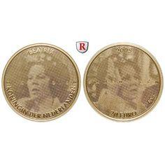 Niederlande, Königreich, Beatrix, 20 Euro 2005, 7,65 g fein, PP: Beatrix 1980-2013. 20 Euro 7,65 g fein, 2005. Jubiläum Königin… #coins
