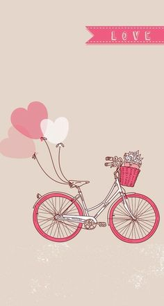 Картинка с тегом «love, pink, and bike»