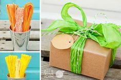 Brown paper packages tied up with string...definitely one of our favorite things. pickyourplum.com