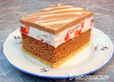 Пляцок «Клубника в шоколаде» Polish Cake Recipe, Homemade Cakes, Fitness Diet, Vanilla Cake, Jelly, Cake Recipes, Cheesecake, Food And Drink, Cake
