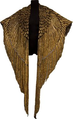 Gold Cleopatra Cape - 1963 - Worn by Elizabeth Taylor as 'Cleopatra' - Costumes for women by Renie aka Renié (born Irene Brouillet) and Irene Sharraff - @~ Watsonette