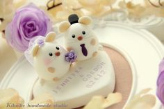 LOVE ANGELS mouse and mice Wedding Cake Topper by charles fukuyama, via Flickr