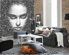Text Face - Mural Unique