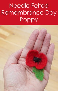 Step by step photo tutorial of making a needle felted Remembrance Day poppy. Felt Diy, Felt Crafts, Sheep Crafts, Needle Felted Ornaments, Christmas Needle Felting, Remembrance Day Poppy, Poppy Craft, Needle Felted Animals, Felt Animals