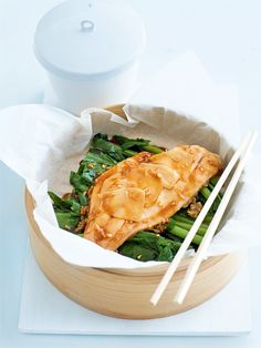I made this tonight, so good! - soy and ginger steamed fish