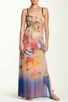 Classic Printed Silk Maxi Dress by Twelfth Street By Cynthia Vincent on @HauteLook