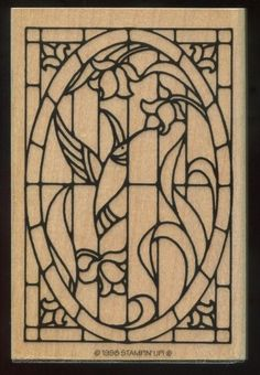 Stampin Up Stained Glass Summer Flowers Hummingbird WM Rubber Stamp #StampinUp