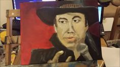 """The making of """"It's just a ride"""" a tribute to Bill hicks in acrylics - b..."""