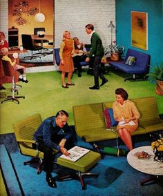 Furniture. And family. Sixties style.