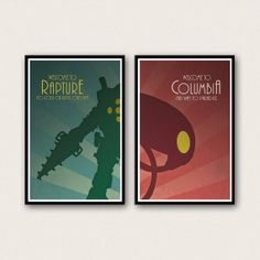 Bioshock Inspired Poster Set