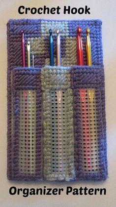 Crochet Hook Organizer Traveler Case Plastic Canvas Pattern