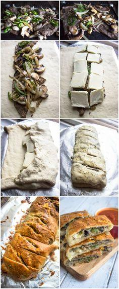 Philly Cheese Steak Stromboli | Brunch Time Baker