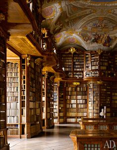 Библиотека монастыря Cвятого Флориана в Австрии (1750 год)
