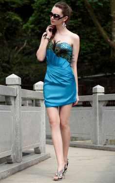 Alluring Sweetheart Mini Length Satin Prom Dress With Abundant Paillette