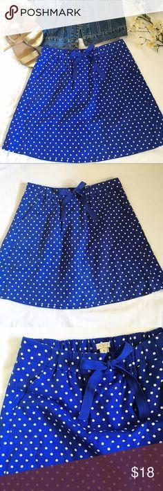 J crew polka dot skirt Cute skirt, good conditions, worn one or twice. J. Crew Skirts