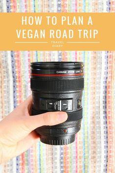 Vegan Travel: How to Plan a Vegan Road Trip! Vegan Travel – How to Plan a Vegan Road Trip Vegan Foods, Vegan Vegetarian, Vegan Recipes, Road Trip Snacks, Wanderlust, Responsible Travel, Vegan Restaurants, Travel Tips, Food Travel