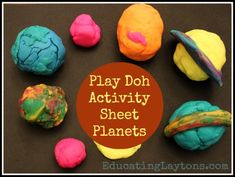Free Play Doh Activity Sheet Planets