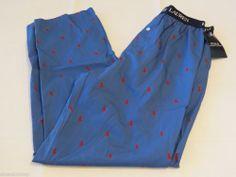Polo Ralph Lauren sleep pants men's lounge blue red horse logo XL PJ bottoms NEW