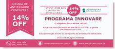 14% OFF na sua inscrição para o Programa Innovare!