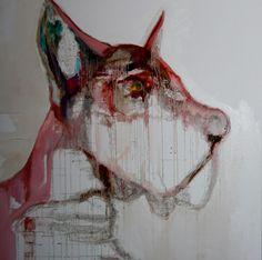 "Saatchi Online Artist: Patricia Derks; Oil, Painting ""red dog"""
