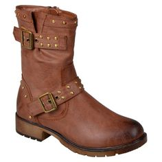 Journee Collection Women's 'Aquata' Studded Buckle-Strap Motorcycle Boots - Overstock™ Shopping - Great Deals on Journee Collection Boots