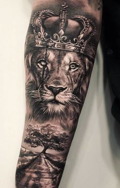 50 Eye-Catching Lion Tattoos That'll Make You Want To Get Inked – tattoo sleeve men Lion Forearm Tattoos, Lion Head Tattoos, Mens Lion Tattoo, Forearm Tattoo Men, Arm Tattoos For Guys, Lion Arm Tattoo, Lion Tattoos For Men, Tattoo Back, Lion Tattoo With Crown