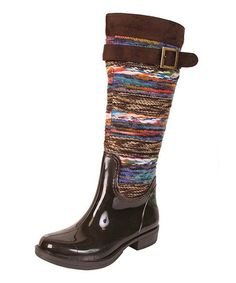 I'm pretty sure @daisyjones01 and I would dig these. :-) Brown Chopper Rain Boot by Nomad Footwear #zulily #zulilyfinds