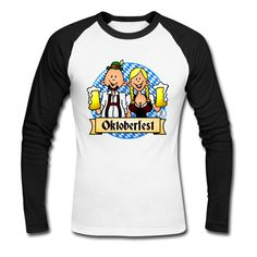 Oktoberfest Männer Baseballshirt langarm. #Oktoberfest #Tshirt #Spreadshirt #Cardvibes #Tekenaartje #SOLD