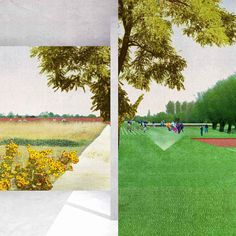 Citizens. Proposal for an urban park in the town of Puurs, Belgium, 2012