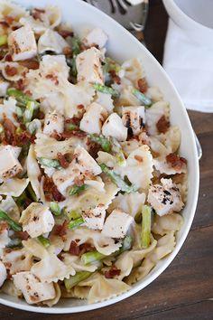 Lightened Up Bowtie Chicken and Asparagus Alfredo | Mel's Kitchen Cafe