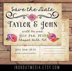 this is obviously a save the date, but the style of it can be translated into an invitation pretty easily if you like it.