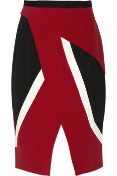 Peter Pilotto|Farah wrap-effect crepe skirt|NET-A-PORTER.COM