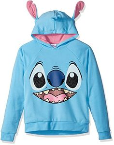Disney Girls' Stitch Costume Hoodie: Licensed stich pullover with cosplay ears atop hood with glitter screen Cute Disney Outfits, Cute Lazy Outfits, Disney Inspired Outfits, Disney Clothes, Lilo Stitch, Cute Stitch, Stitch Costume, Stitch Backpack, Stitch Hoodie