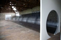 80-Foot Walkway Formed with Old Strips of VHS Tape